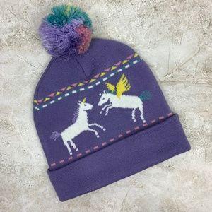 ab37390c7c0 A-LAB — Rainbow Unicorn Kawaii Pom Knit Beanie NWT